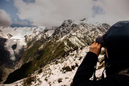 Le glacier de franz josef sur la côte OUest de l'île du Sud de la Nouvelle Zélande