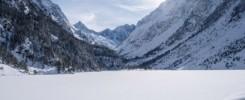 Lac de Gaube en hiver