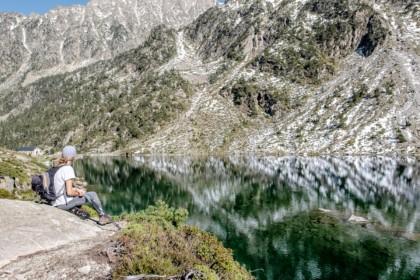 Repos bien mérité au bord du lac d'Estom