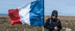 Randonnée mont Lozère Sommet de Finiels drapeau français