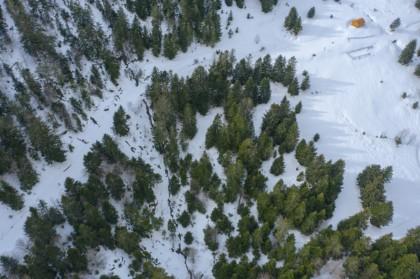 Station de ski du Val d'Azun vue du ciel